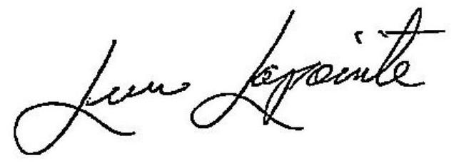 Lucie Lapointe Signature