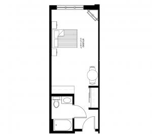 Studio and Deluxe Studios 370-390 sq ft