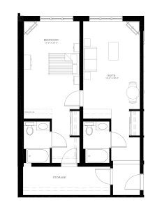 Deluxe One Bedroom 740 sq ft